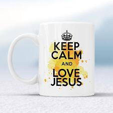 Keep Calm and Love Gesù SPLASH TAZZA REGALO chiesa Dio pregare TAZZA di Natale Regalo