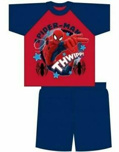 "Boys Official Marvel Comics ""Spider-Man"" Character Pyjama Short Set"