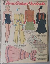 Jane Arden Sunday with Large Uncut Paper Doll from 2/11/1940 Full Size Page!