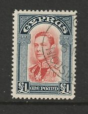 Cyprus a FU KGVI 1 pound from 1938