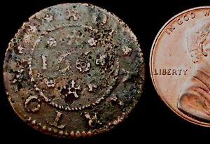 T322: 1665 17th Century Trade Token - Eustace Hooker, Kirton HALFPENNY Lincs.135