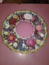Bradford Exchange Bradex Wreath Floral Plates (5) Eternal Beauty Glynda Turley