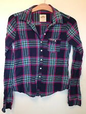 Hollister Navy Check Shirt - Size S