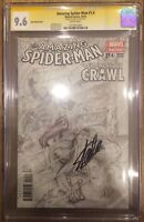 Amazing Spider-Man 1.4 1:200 CGC SS 9.6 Signed Stan Lee Alex Ross Sketch