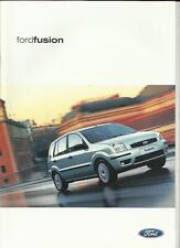 FORD FUSION SALES BROCHURE FEBRUARY 2002