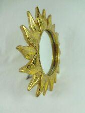Standspiegel Sonnenuhr Sonne Gold Kippbar Hochwertig  20 cm   Neu