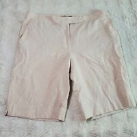 Talbots Bermuda Shorts Size 12 100% Cotton Beige Womens 34x11