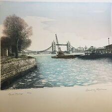 Ashley cabo de entrallar Color Grabado Tower Bridge 35/250 Ltd Ed Lápiz Firmado