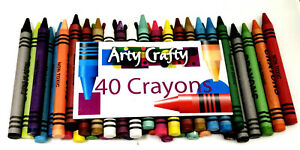 Crayola Classic Assorted 40 Colours Wax kids Crayons