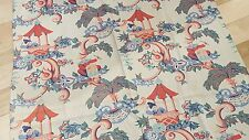 Cotton Vintage Curtain /playful Chinese garden theme 1 panel size: 33'' x 82''