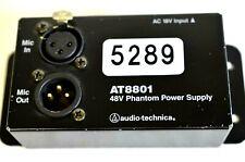 AUDIO TECHNICA AT8801 SINGLE CHANNEL 48V PHANTOM POWER SUPPLY #5289 (ONE)