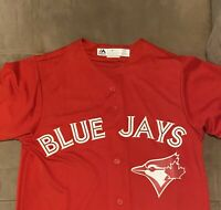 Toronto Blue Jays Canada Day Cool Base Jersey Men's Small 100% Authentic w/Tags