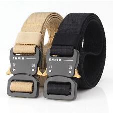 2PCS 1.26inch Nylon Webbing Mens Belt Quick Release Metal Buckle Tactical Belts