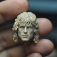 "Blank 1/12 Scale Action Star Rambo Head Sculpt Unpainted Fit 6"" Figure"