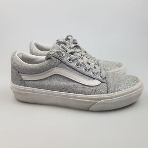 Women's VANS 'Glitter' Sz 5.5 US Shoes Silver VGCon Casual | 3+ Extra 10% Off