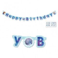 Festone personalizzabile Principessa Frozen con Adesivi Happy Birthday Amscan