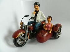 "Vintage Handmade Police 12"" Motorcycle and Sidecar"