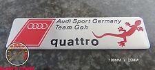 AUDI SPORT TEAM GOH QUATTRO EMBLEM SCHRIFTZUG A3 (gohquat) A4 S4 S3 RS TT s line