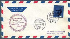 GERMANIA REP. FED. - 1974 - Volo da Manching (28.06.1974)  con annullo speciale