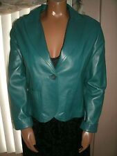 CASUAL CORNER  Women's Size L  Genuine Leather Green Jacket  Fully Lined  NEW