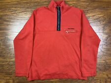 Vintage Polo Sport 1/4 Zip Sweatshirt Large Red X