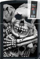 Zippo CM1305 Til Death Do US Part Black Matte Lighter + FLINT PACK