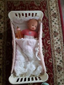 Dolls Cot And Doll