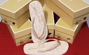 MICHAEL KORS Thong Flip Flops  Pink  Size 10(M)