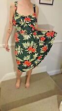 Collectif stunning floral 50s style Tallulah wiggle dress XXL UK 18