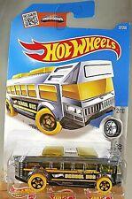 2016 Hot Wheels #37 Super Chromes 2/10 HOT WHEELS HIGH Bus Chrome w/Yellow Whls