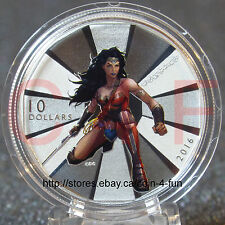 2016 Canada BATMAN v SUPERMAN Dawn of Justice™ Wonder Woman $10 Pure Silver Coin