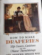 1929 Singer Sewing Machine Booklet Make Draperies Pretty Flapper Girl