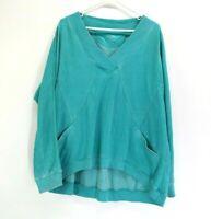 CK Calvin Klein Performance Women's M Long Sleeve V-Neck Fleece Lined Sweatshirt