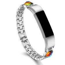 For Fitbit Alta Band / Hr Metal Band Classic Fancy Stone Bracelet Adjustable