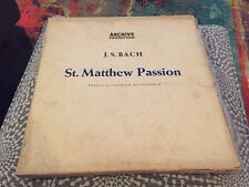 Bach: St. Matthew Passion - Karl Richter - Archive 4 Lps