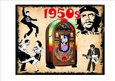 JUKEBOX 1950 S stile vintage Segno Piastra a parete Elvis Chuck Berry SIGN SEGNO 1950 S