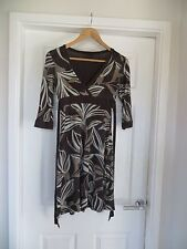 Jane Norman Brown Patterned Knee Length Dress Size 10 *Lightly Worn*