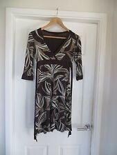 Jane Norman Brown Patterned Knee Length Dress Size 10