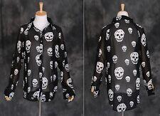 T-33 túnica blusa calavera Skull Gothic punk Visuel-kei negro Harajuku Japón