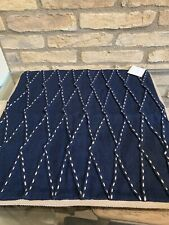 Pottery Barn Pinch Pleat Pillow Cover Sailor 20 Inches Navy New