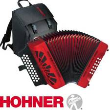 NEW Hohner COMPADRE EAD 31 Button Diatonic Accordion - RED with Gig Bag, Straps
