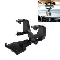 Universal Car Rear View Mirror Grip Mount Stand Holder Cradle For Cellphone GPS