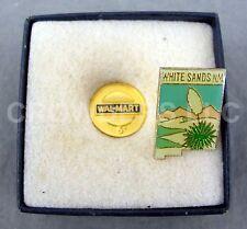 "1/2"" Wal Mart 5 Year Associate & 1"" x 1/2"" White Sands New Mexico Souvenir Pins"
