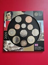 More details for royal mint 2009 uk brilliant uncirculated 11 coin set rare kew gardens 50p unc