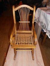 Superb Dolls / Teddy Bear Petite Bamboo Effect Wooden Display Rocking Chair