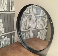 Artisan Round Mirror 55cm diameter, Pewter colour