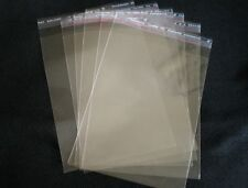 100 Packaging ReSealable Crystal Clear Cello Cellophane BAGS 220x320 Fits  A4