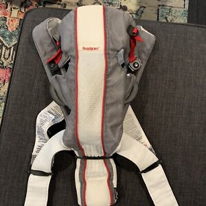 Baby Bjorn Infant Carrier Mesh Gray Original White Newborn EUC