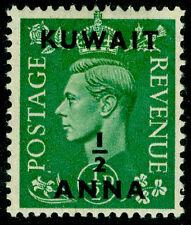 KUWAIT SG64, ½a on ½d pale green, M MINT.