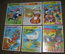 VINTAGE FRAME TRAY PUZZLE - LOT OF 6  DATED 1980's -  CARDBOARD